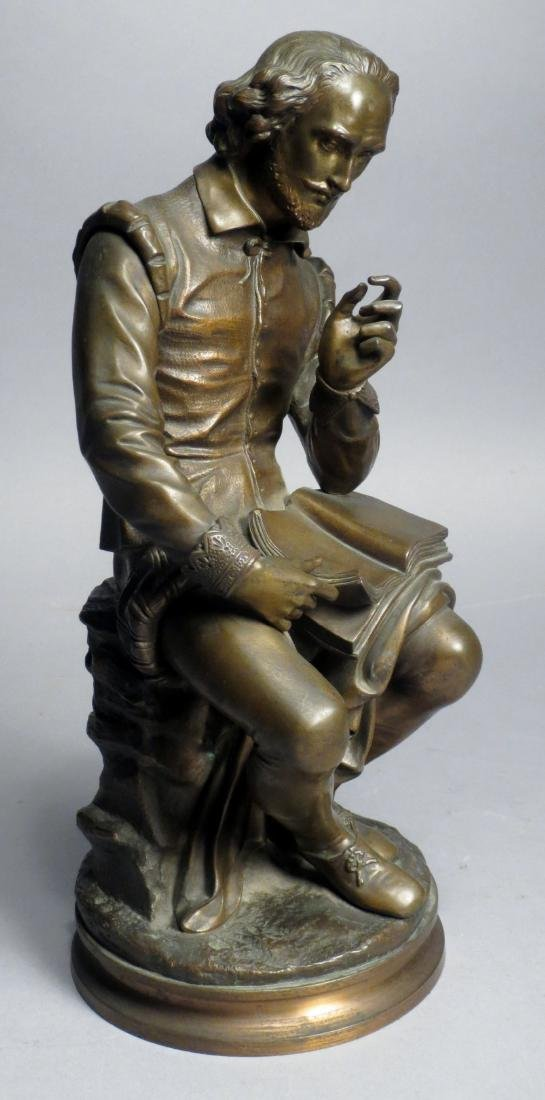 Antique French Bronze Statue, Shakespeare Salmson