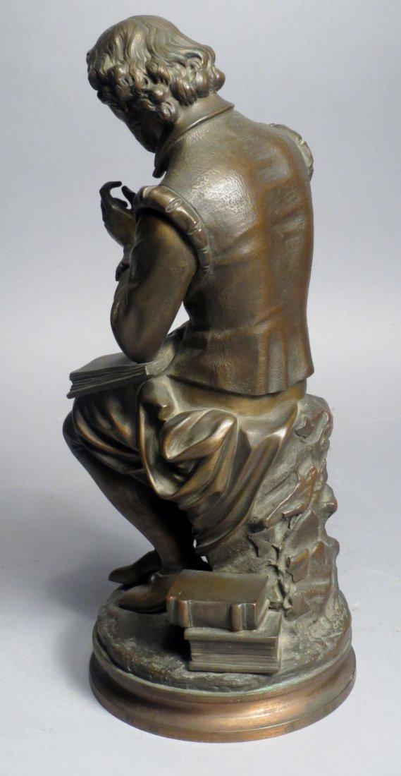 Antique French Bronze Statue, Shakespeare Salmson - 3