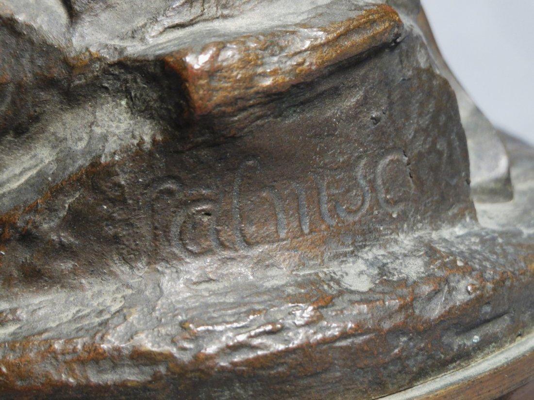 Antique French Bronze Statue, Shakespeare Salmson - 4