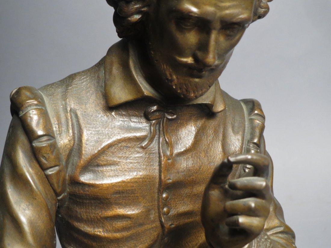 Antique French Bronze Statue, Shakespeare Salmson - 6