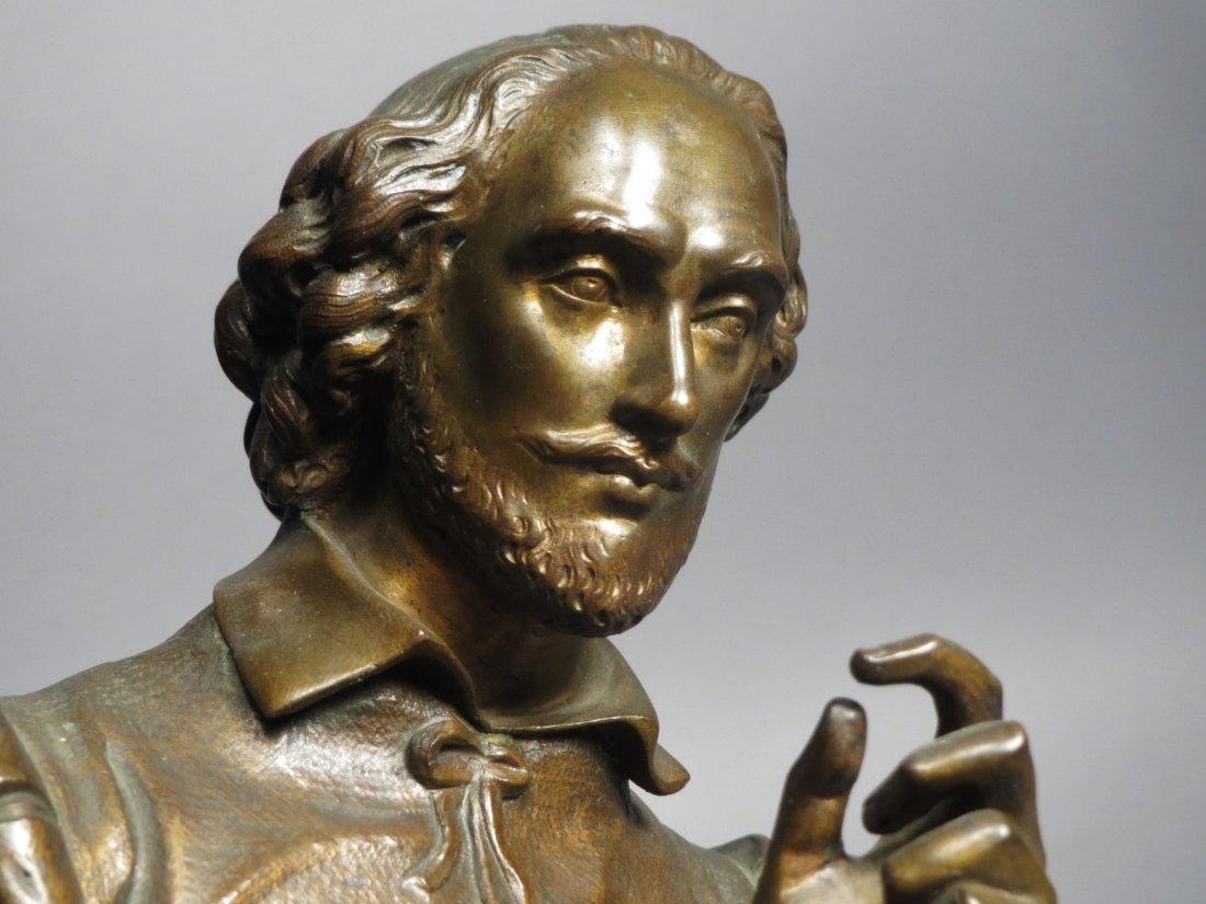 Antique French Bronze Statue, Shakespeare Salmson - 7