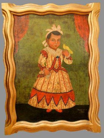 Spanish Colonial Child Portrait Flores Fred Davis  1864