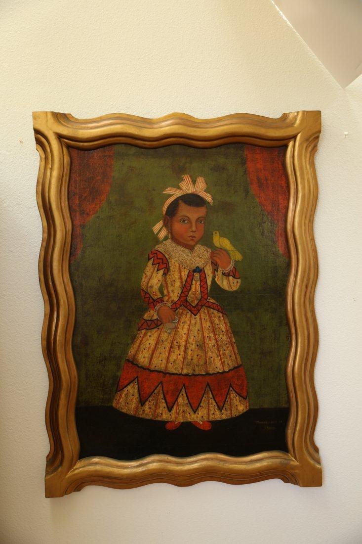 Spanish Colonial Child Portrait Flores Fred Davis  1864 - 2