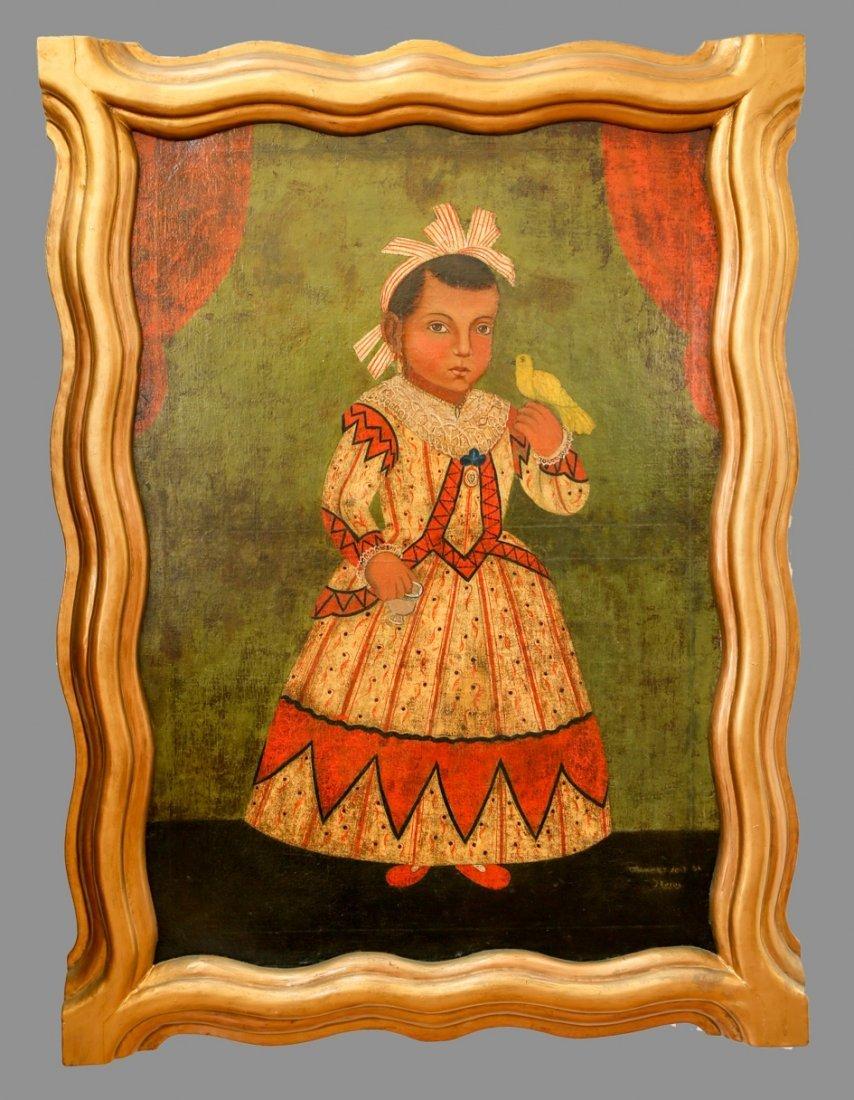 Spanish Colonial Child Portrait Flores Fred Davis  1864 - 3