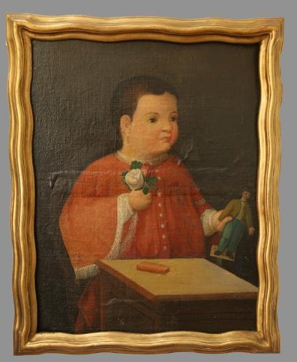 Spanish Colonial Child Portrait Painting Fred Davis