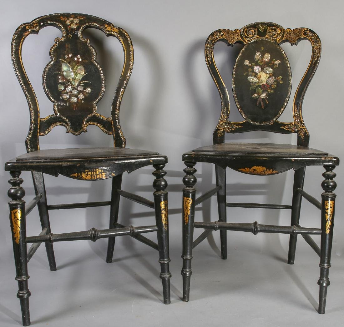 20th C Fox Movie Prop Chairs, Mother of Pearl