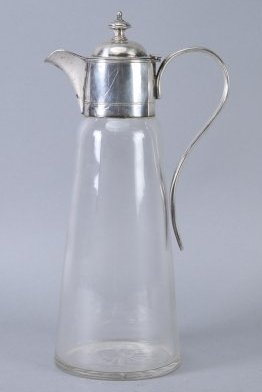 Vintage German Silver/Glass Claret Jug