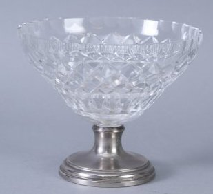 Fabulous Hawkes Crystal, Sterling Footed Bowl