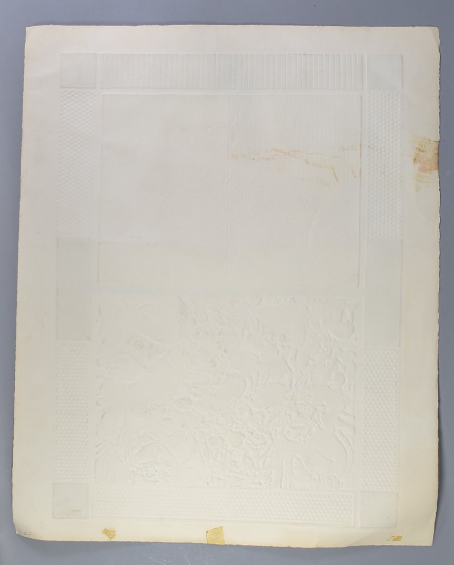 Mid-Century  Modern Print  Artist Signed - 2
