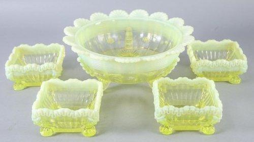 Antique Victorian Northwood Glass Lot Klondyke & Alaska