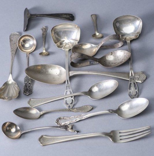 15 Piece Lot Sterling Spoons Whiting  Gorham