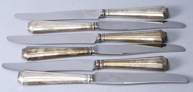 Lot of 6 Sterling Handled Knives