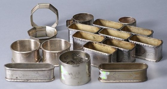 Misc Lot of Sterling and Silverplate Napkin Rings