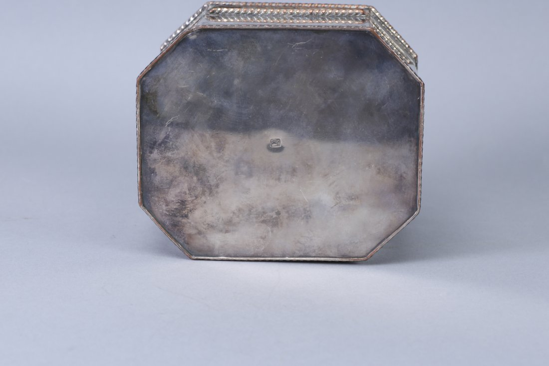 Antique Tea Caddy, Silver on Copper - 4
