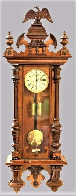 Antique Vienna Alt Deutsch Regulator Wall Clock