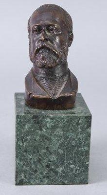 Bronze Miniature bust Alexander of Russia Artist Signed