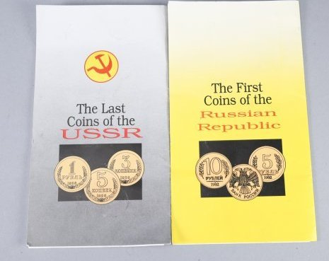Set of Two Russian Coin Books