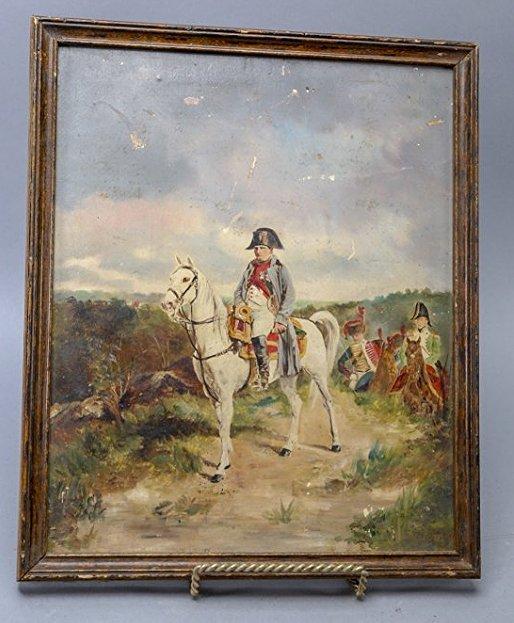 Napoleon, Oil On Board, painting