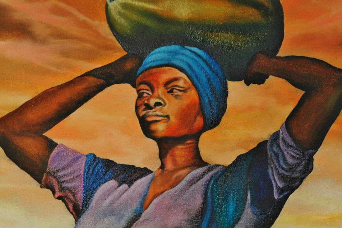 Jean Baptistie Botter Haitian 1918-1979 Pair of Oil - 2