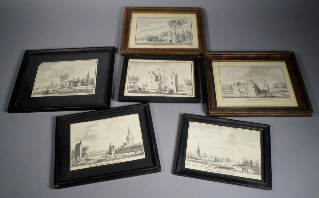 6 European paintings Signed J. Koster