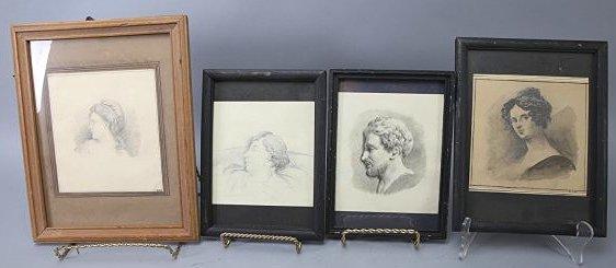 Antique Lot of Drawing Johannes Cornelis Haccou