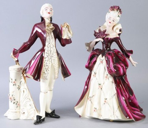 Florence Ceramics Madame Pompadour & Louis XV