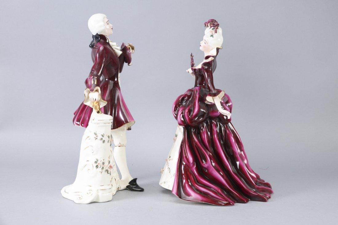 Florence Ceramics Madame Pompadour & Louis XV - 2