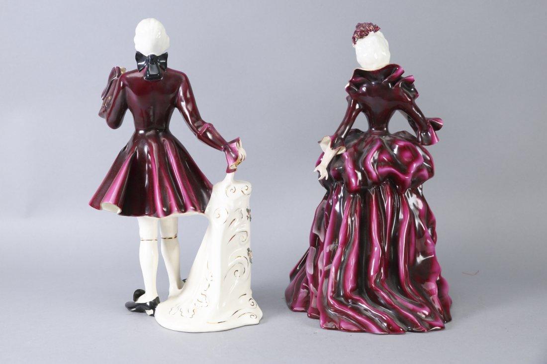 Florence Ceramics Madame Pompadour & Louis XV - 3