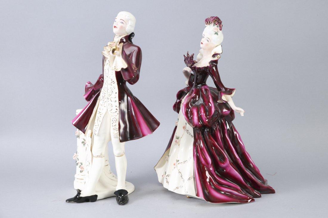 Florence Ceramics Madame Pompadour & Louis XV - 4