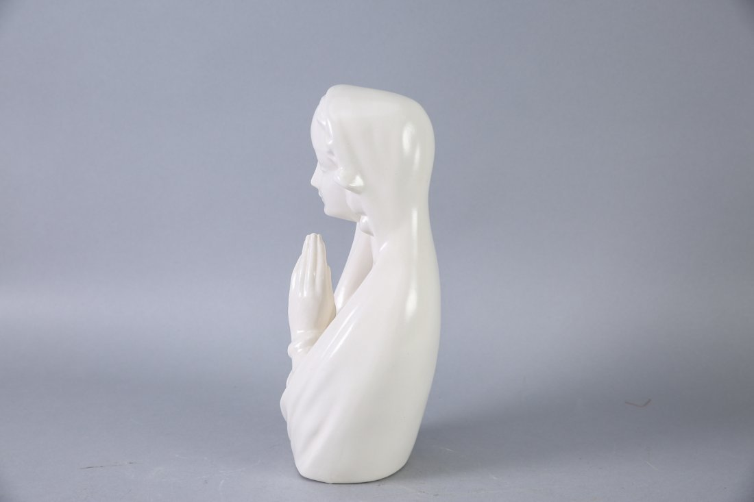 M. Goebel  Hand Signed Praying Madonna, Rare Mark - 2