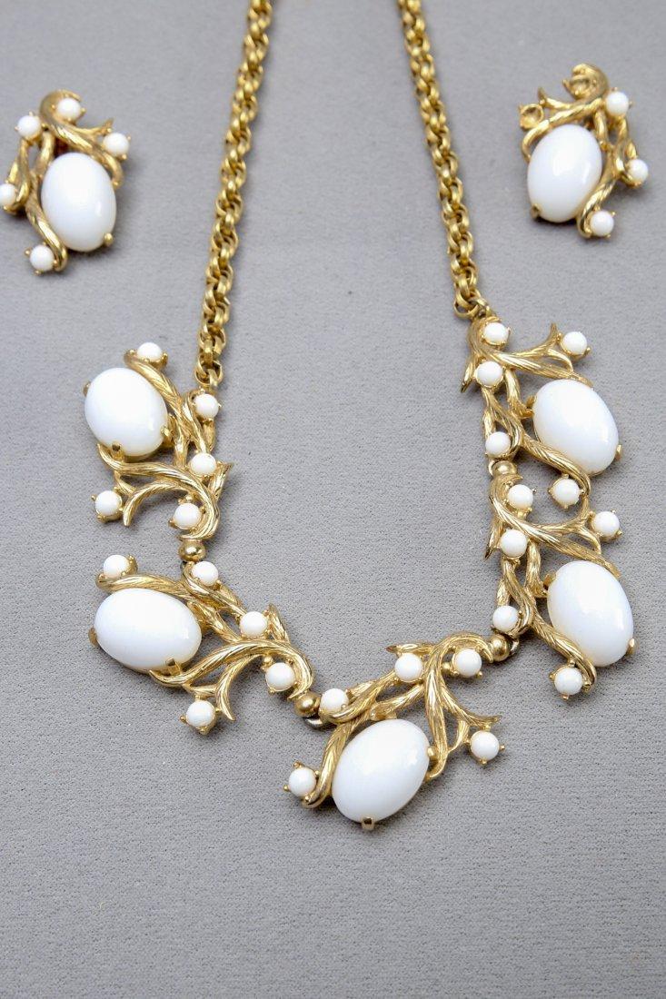 Vintage Schiapparelli  Earring & Necklace Set - 2