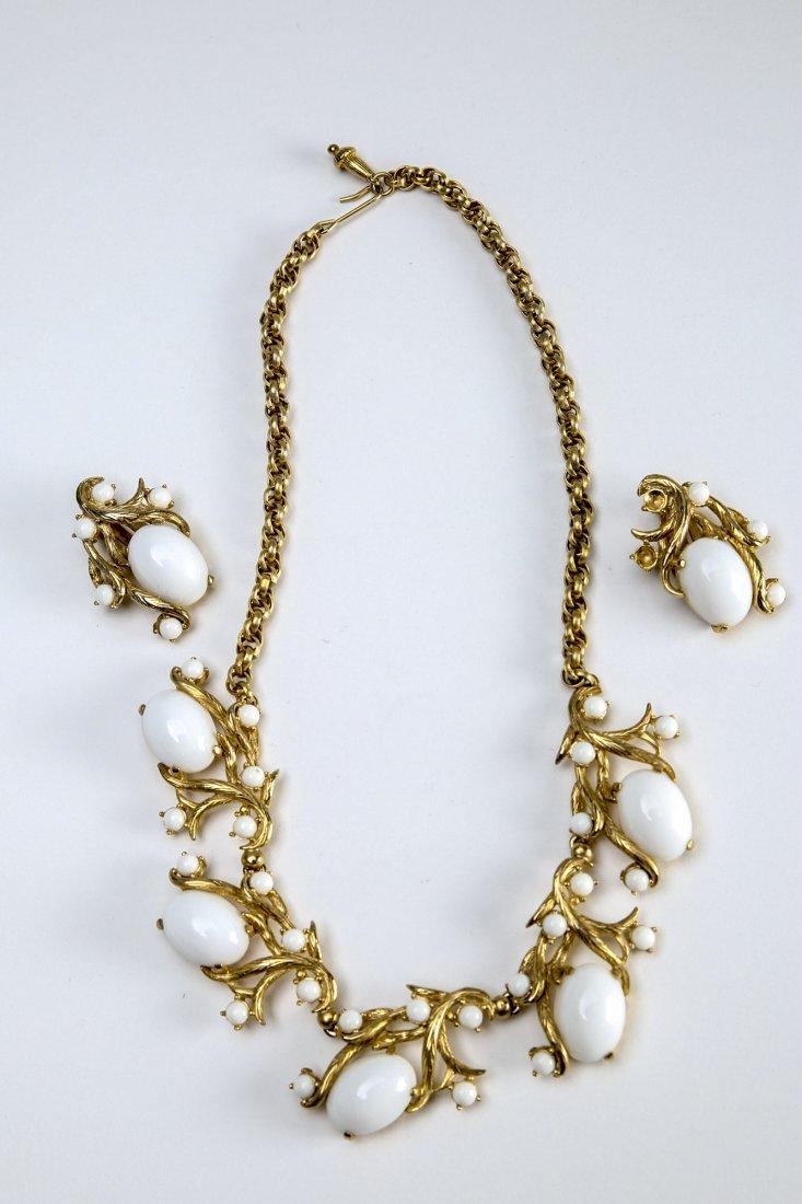 Vintage Schiapparelli  Earring & Necklace Set - 5