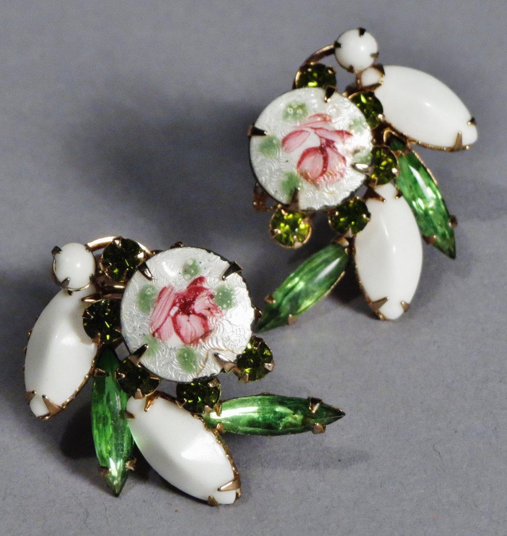 Nice Brooch and earring set by Weiss with Original Card - 2
