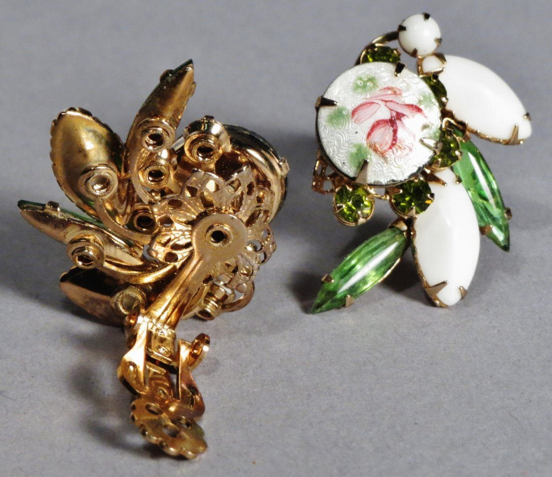 Nice Brooch and earring set by Weiss with Original Card - 3