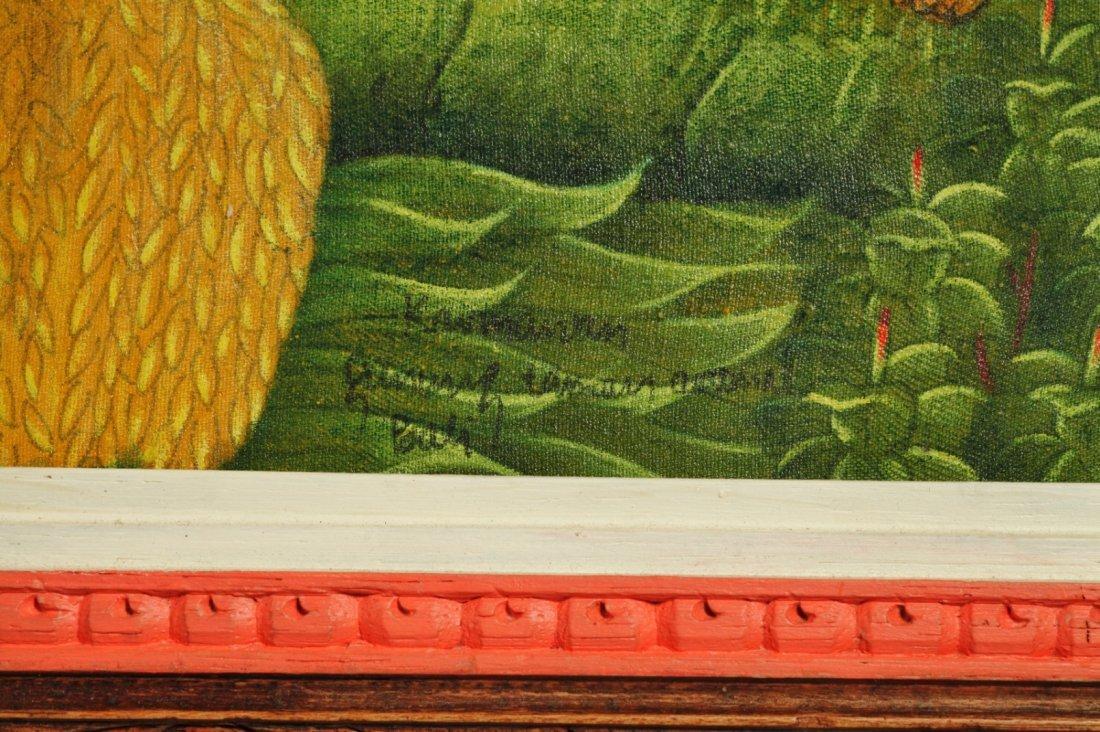 Bali Oil on Linen Artist Signed Painting - 2
