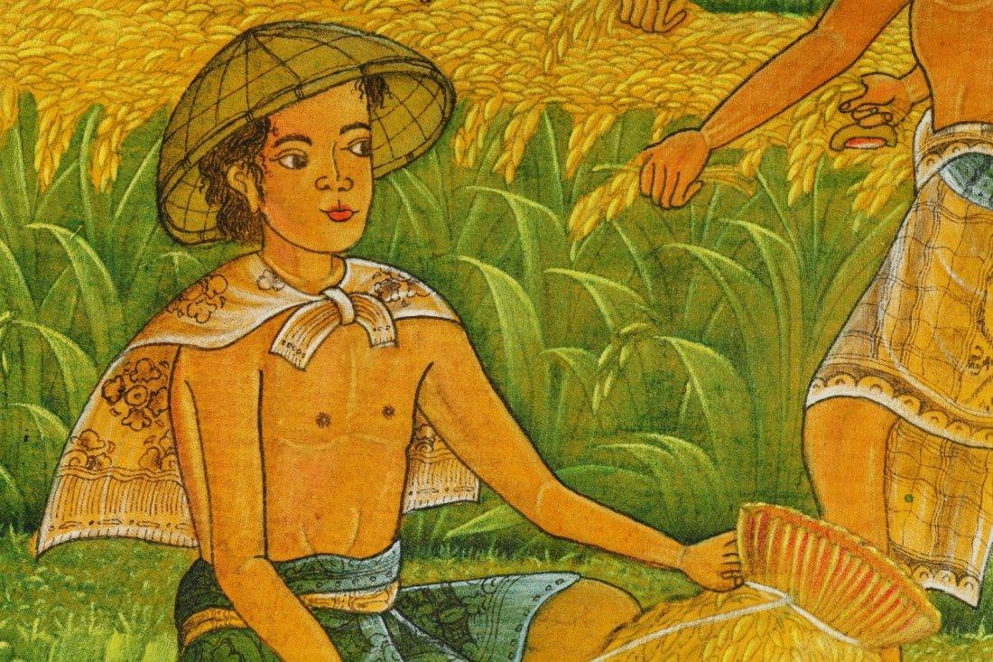 Bali Oil on Linen Artist Signed Painting - 4