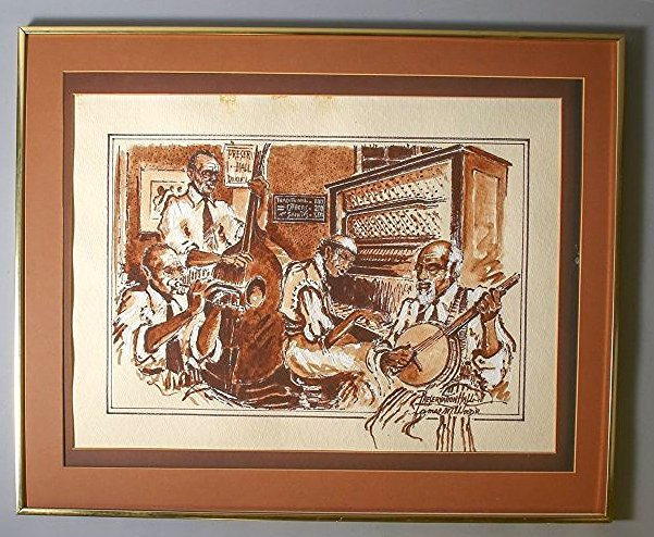 James M. Wood Painting,  Preservation Hall