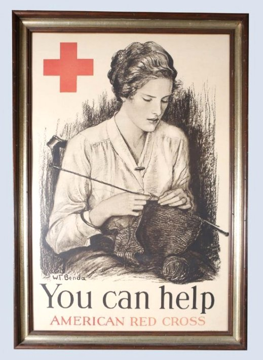 WW1 Red Cross You Can Help Poster