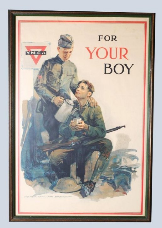 WW1 Arthur Williams Brown, YMCA For YOUR Boy Poster