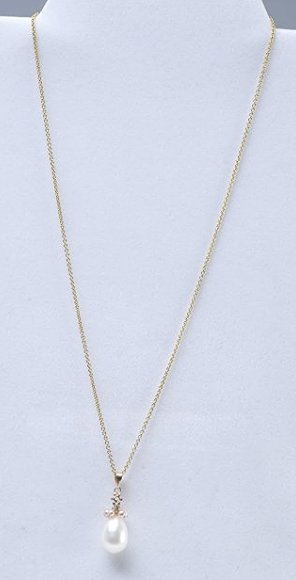 14K Yellow Gold/Pearl Pendant Necklace