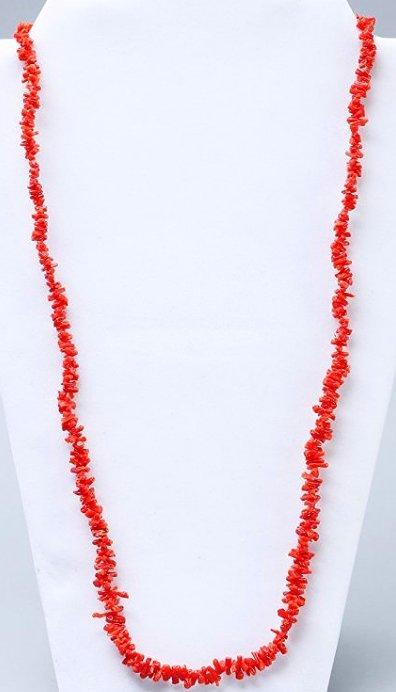 Vintage Coral Chip Necklace