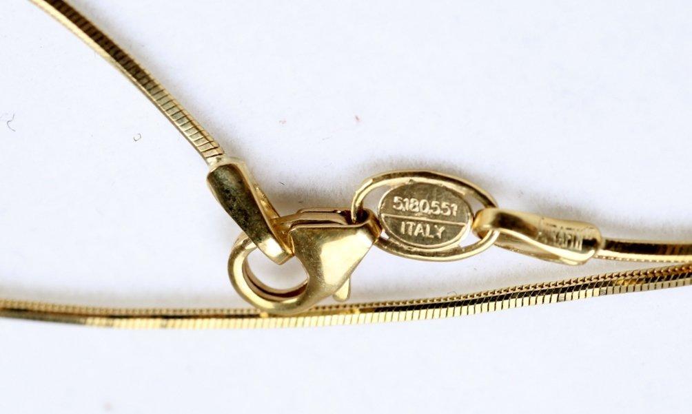 18K Gold & Diamond Earrings & Pendant - 9