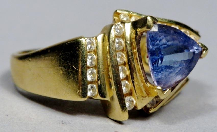 18k Gold, Diamond & Tanzanite Ring LaVian - 2
