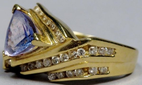 18k Gold, Diamond & Tanzanite Ring LaVian - 3
