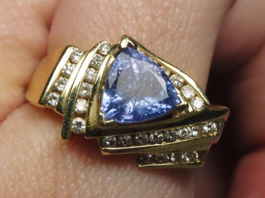 18k Gold, Diamond & Tanzanite Ring LaVian - 4