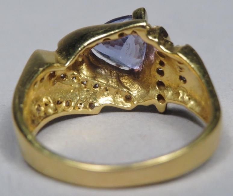 18k Gold, Diamond & Tanzanite Ring LaVian - 5