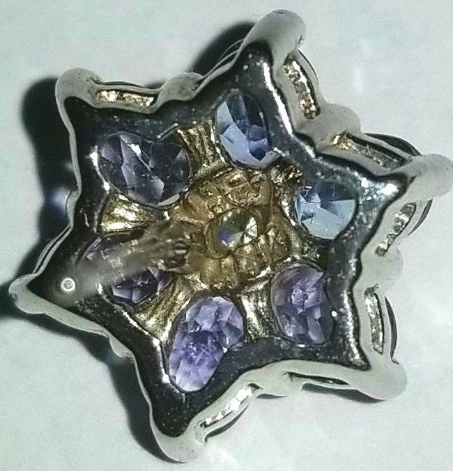 14k Gold, Tanzanite & Diamond Earrings - 2