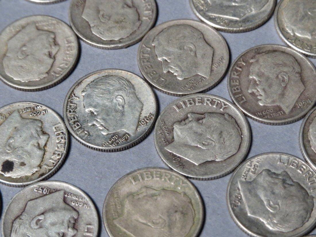 80 Silver Roosevelt Dimes Pre 1964 - 4