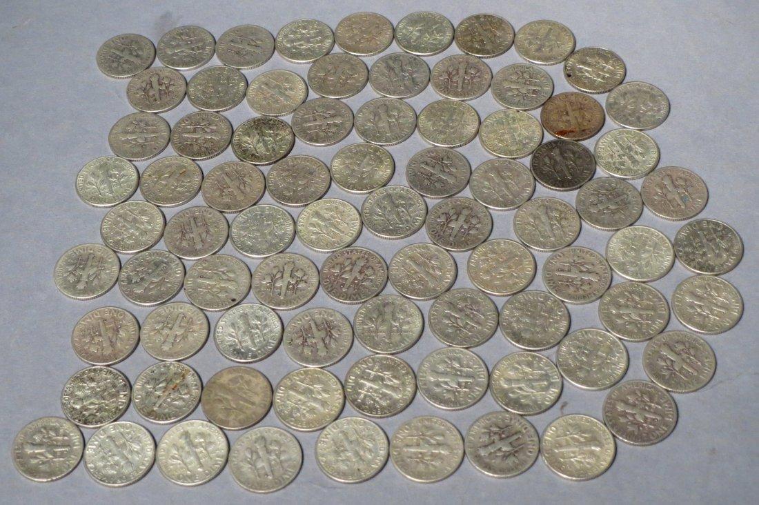 80 Silver Roosevelt Dimes Pre 1964 - 6