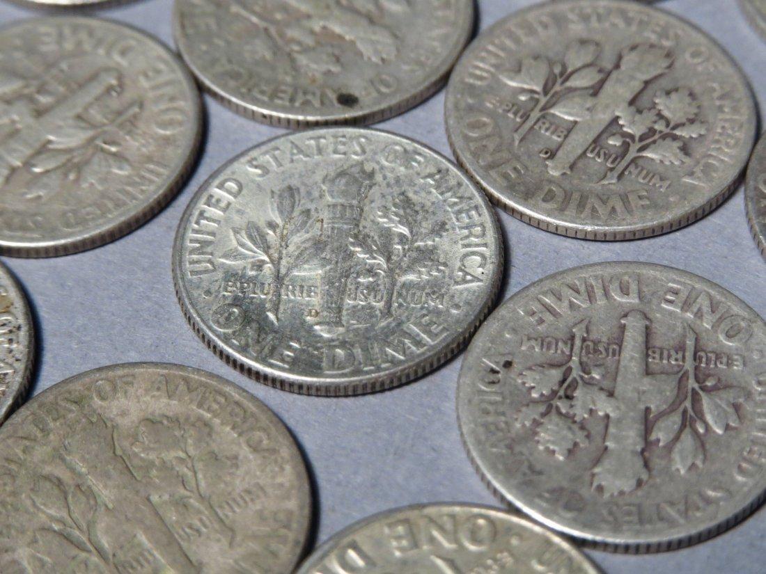 80 Silver Roosevelt Dimes Pre 1964 - 8